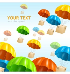 Parachute background air shipping concept vector