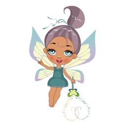 A beautiful fairy isolated on a white background vector