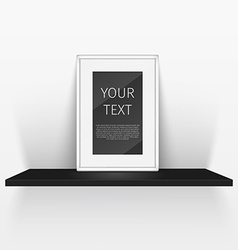 Shelf and blank poster vector