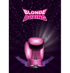 Womens boxing gloves pink sport background with vector