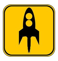 Starting rocket button vector