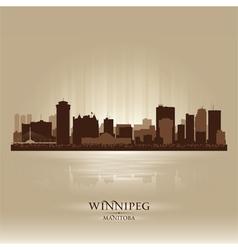 Winnipeg manitoba skyline city silhouette vector