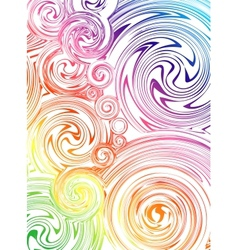 Swirling hand drawn of various colors vector