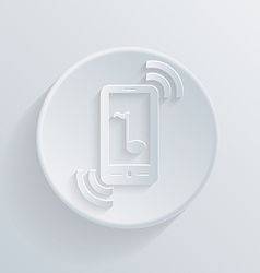 Circle flat icon a ringing phone the call vector