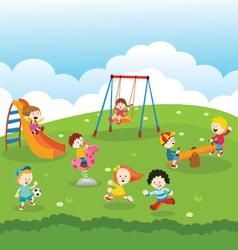 Kids at park vector