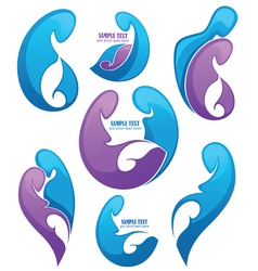 Family and pregnancy emblems vector