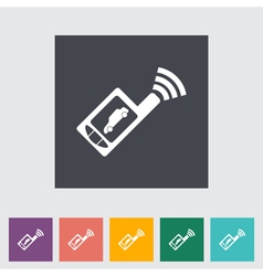 Car remote control icon vector