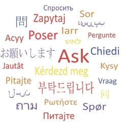 Ask in different languages vector