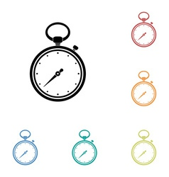 Icon of stopwatch vector