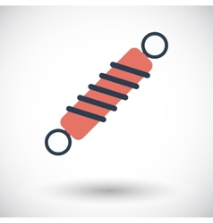 Automobile shock absorber single icon vector