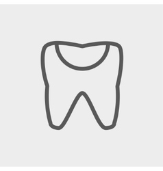 Broken tooth thin line icon vector