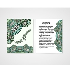 Design of boock cover whit doodle abstract pattern vector