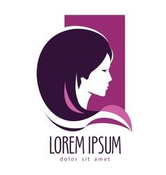 Beauty salon logo design template hairdressing vector