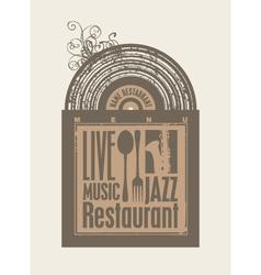 Restaurant music vector