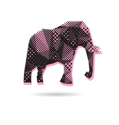 Elephant abstract isolated vector