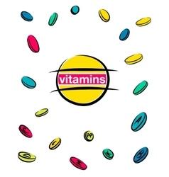 Vitamin pills vector