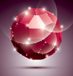 Party dimensional red sparkling disco ball vector
