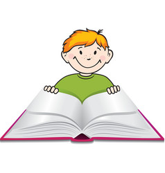 Child reading vector