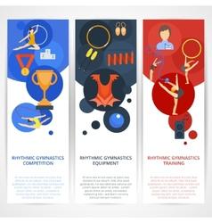 Gymnastics banners flat vector