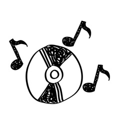 Music drawing vector