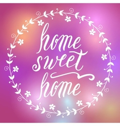 Home sweet home lettering vector