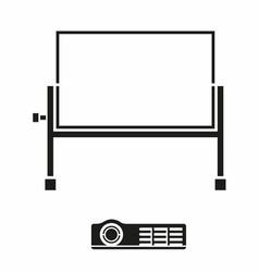 Portable projector screen icon vector