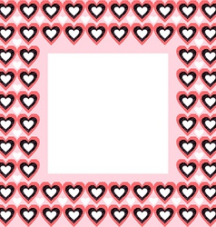 Frame from hearts and place for your text vector