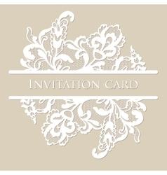 Lace card vector