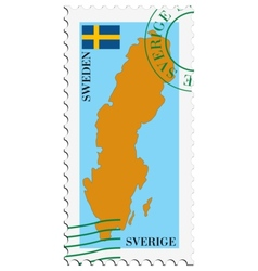 Mail to-from sweden vector