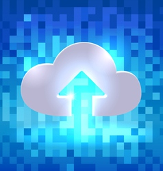 Uploading active cloud icon vector