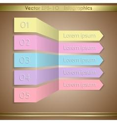 Modern paper arrow infographics elements vector