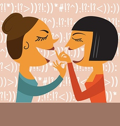 Gossiping women vector