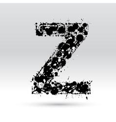 Letter z formed by inkblots vector