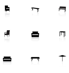 Furniture icons - outdoor vector