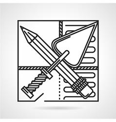 Underfloor heating installing icon vector