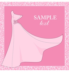 Bride gown wedding theme background vector