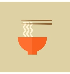 Noodles food flat icon vector