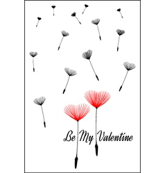 Be my valentine valentines day card vector