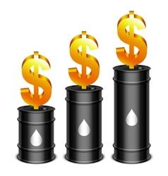 Oil barrels and dollar vector