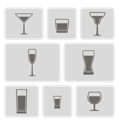 Different glasses icons vector