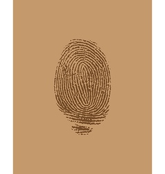 Finger brown vector