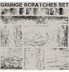 Grunge scrtaches set vector