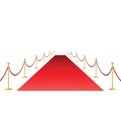 Red carpet and stantion vector