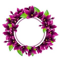 Lilac flower frame vector