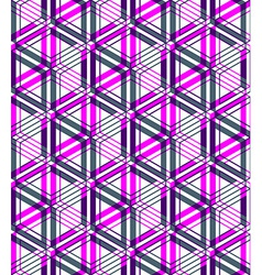 Bright abstract geometric seamless pattern with 3d vector