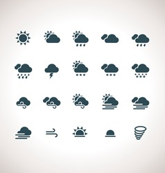 Weather icons set for web and mobile applications vector