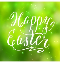 Happy easter card hand lettering vector
