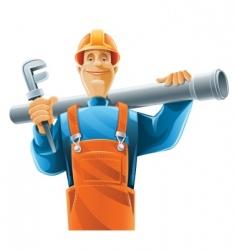 Sanitary technician vector