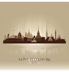 Saint petersburg russia city skyline silhouette vector