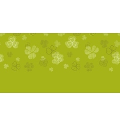 Green clover textile texture horizontal border vector